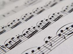 דף תווים של מלחין מוסיקה