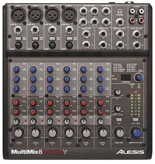 כרטיס הקול הראשון שקניתי - Alesis MultiMix FireWire 8